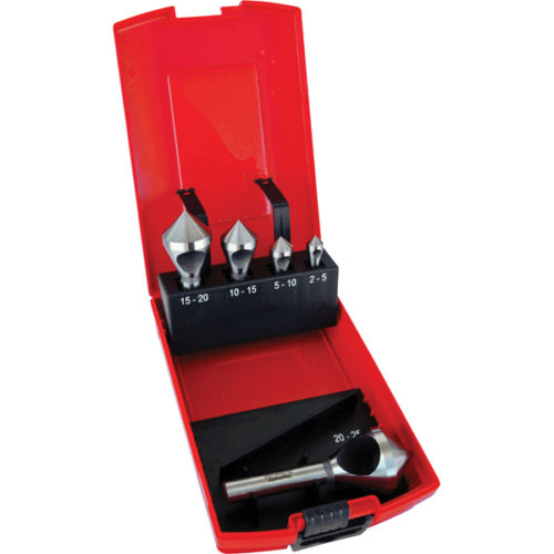 Holemaker 5pc HSS Crosshole 90deg Countersink Set