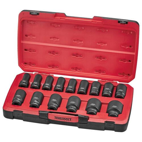 Teng 17pc 3/4in Dr. MM Deep Impact Socket Set 6-Pnt