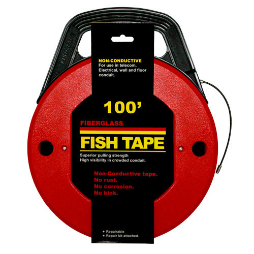 0310FAH Fish Tape Fibreglass 30metre (With winder case)
