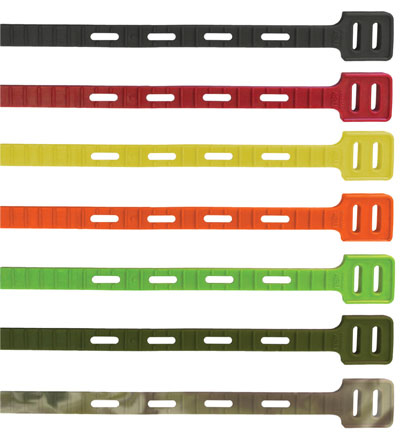 """One Tie - Reusable Tie Strap - Red 14"""" - 6 pack"""