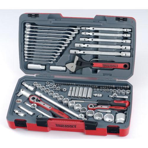 Teng 106pc 1/4in-3/8in-1/2in Dr. Metric Socket & Tool Set