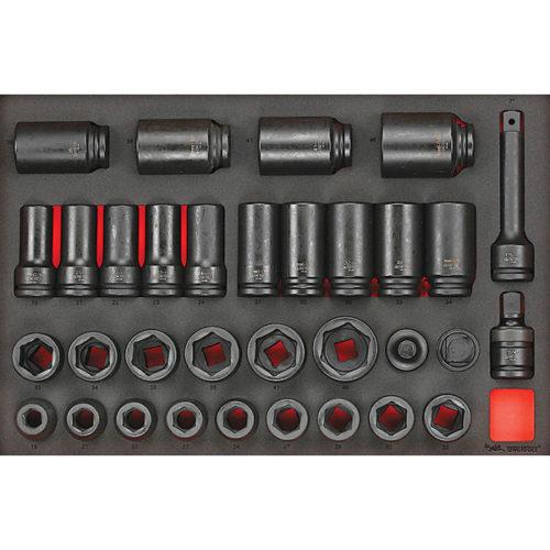 Teng 33pc 3/4in Dr. Impact Socket & Acc. Set (EVA)