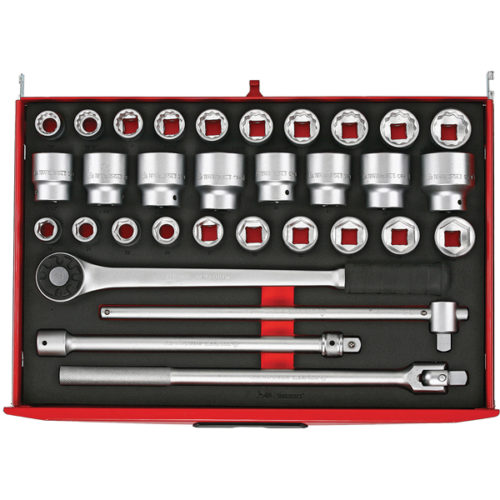 Teng 32pc 3/4in Dr. MM/AF Socket & Acc. Set (EVA)