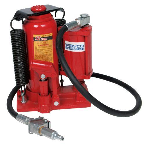 Air / Hydraulic Bottle Jack 12.0 Ton Min HT 260mm Total HT 510mm Lift 170mm Adjustment 80mm