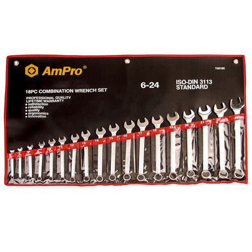 """T40195 Combination Wrench Set 1/4-1.1/4"""" 16pc"""