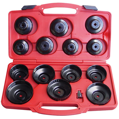 T75871 Oil Filter Wrench Set Cup Type 14pc
