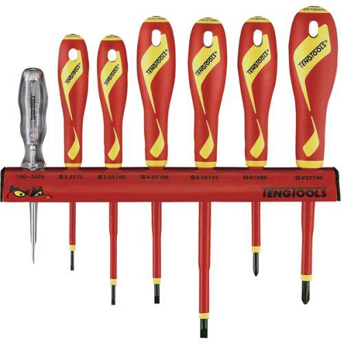 Teng 7pc 1000V VDE Screwdriver Set w/ Wall Rack